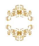 Estampado de flores de oro del vector Imagen de archivo libre de regalías