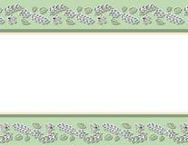 Estampado de flores decorativo con las hojas y las ramas Plantilla de la letra Fondo exhausto de la textura de la mano de la hist libre illustration