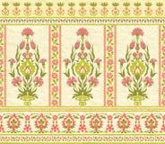 Estampado de flores decorativo en estilo del este stock de ilustración