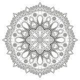 Estampado de flores del círculo Foto de archivo