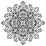 Estampado de flores del círculo Imagen de archivo libre de regalías