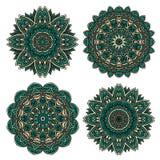 Estampado de flores del cordón con los pétalos esmeralda de la flor Foto de archivo libre de regalías