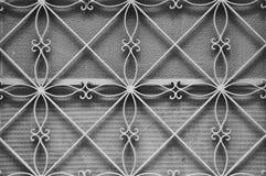 Estampado de flores del marco de puerta del metal Imagenes de archivo