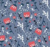 Estampado de flores del vector con las flores Imagen de archivo