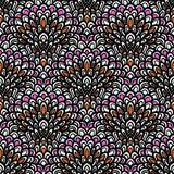 Estampado de flores del vector del art déco Fotografía de archivo