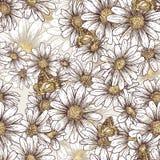 Estampado de flores del verano con las margaritas Imágenes de archivo libres de regalías