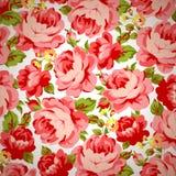 Estampado de flores del vintage con las rosas rojas Fotos de archivo