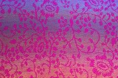 Estampado de flores en la seda tailandesa Imagen de archivo