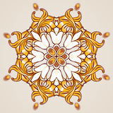 Estampado de flores en sombras de oro foto de archivo libre de regalías
