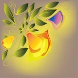 Estampado de flores en un fondo amarillo Fotos de archivo libres de regalías