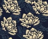 Estampado de flores inconsútil coloreado en el fondo oscuro libre illustration