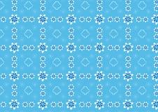 Estampado de flores inconsútil con espirales y cintas Blanco y azul Fotografía de archivo libre de regalías