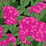 Estampado de flores inconsútil con las hortensias Stock de ilustración