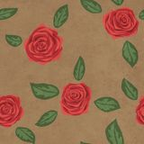 Estampado de flores inconsútil con las rosas rojas en el fondo de papel fotografía de archivo