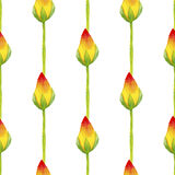 Estampado de flores inconsútil de la acuarela Foto de archivo libre de regalías
