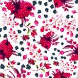 Estampado de flores inconsútil de la acuarela del vector Fotografía de archivo libre de regalías