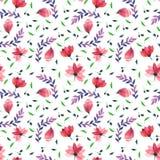 Estampado de flores inconsútil de la acuarela Textura de las flores Fotos de archivo libres de regalías