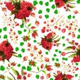 Estampado de flores inconsútil de la acuarela Textura de las flores Foto de archivo libre de regalías