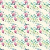 Estampado de flores inconsútil de la acuarela Textura de las flores Fotografía de archivo libre de regalías