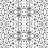 Estampado de flores inconsútil del esquema Imagen de archivo libre de regalías