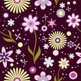 Estampado de flores inconsútil del fondo del papel pintado ilustración del vector