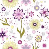 Estampado de flores inconsútil del fondo del papel pintado libre illustration