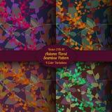 Estampado de flores inconsútil del otoño del vector Imagen de archivo libre de regalías