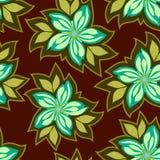 Estampado de flores inconsútil del vector, flores abstractas en un fondo oscuro ilustración del vector