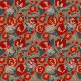 Estampado de flores inconsútil del vintage para el diseño de la tarjeta del día de San Valentín Imagen de archivo