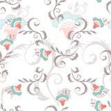 Estampado de flores inconsútil en colores del vintage stock de ilustración
