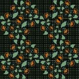 Estampado de flores inconsútil en fondo negro Imagen de archivo