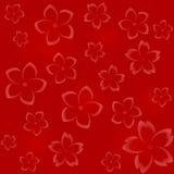 Estampado de flores inconsútil en tonalidades rojas stock de ilustración