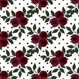 Estampado de flores inconsútil en un fondo blanco Imagenes de archivo