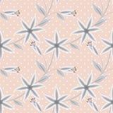 Estampado de flores inconsútil en un fondo rayado beige Imagen de archivo libre de regalías