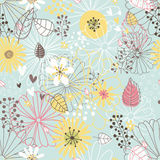 Estampado de flores inconsútil. Textura de las flores. stock de ilustración