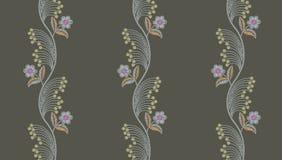 Estampado de flores incons?til del bordado libre illustration