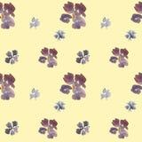 Estampado de flores incons?til del vintage de la acuarela libre illustration