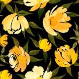 Estampado de flores de la acuarela stock de ilustración