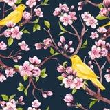 Estampado de flores de la primavera de la acuarela Fotografía de archivo