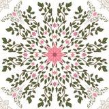 Estampado de flores de la primavera, consistiendo en los brotes y las ramitas con las hojas stock de ilustración
