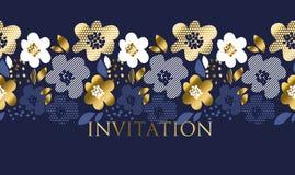 Estampado de flores de lujo del concepto con textura geométrica libre illustration