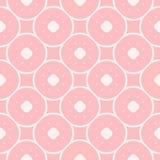 Estampado de flores m?nimo del vector en colores rosados Textura geom?trica con los c?rculos libre illustration