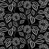 Estampado de flores monocromático inconsútil del vector ilustración del vector