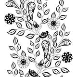 Estampado de flores monocromático inconsútil del vector libre illustration