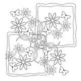Estampado de flores monocromático Texturas florales, flores decorativas colorante Rebecca 36 Imagenes de archivo