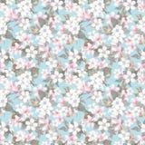 Estampado de flores repetido inconsútil - flores rosadas de la cereza (Sakura) y de la manzana watercolor ilustración del vector