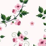 Estampado de flores retro del vector con las flores Fotografía de archivo