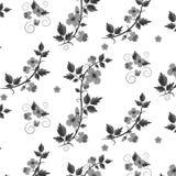 Estampado de flores retro del vector con las flores Imágenes de archivo libres de regalías