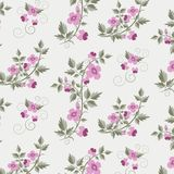 Estampado de flores retro del vector con las flores Imagen de archivo