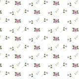 Estampado de flores retro del vector con las flores Foto de archivo libre de regalías
